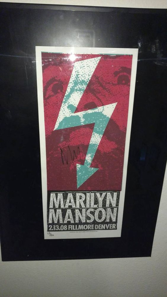 Hey, I found this really awesome Etsy listing at https://www.etsy.com/listing/462299477/marilyn-manson-autographed-2008-denver