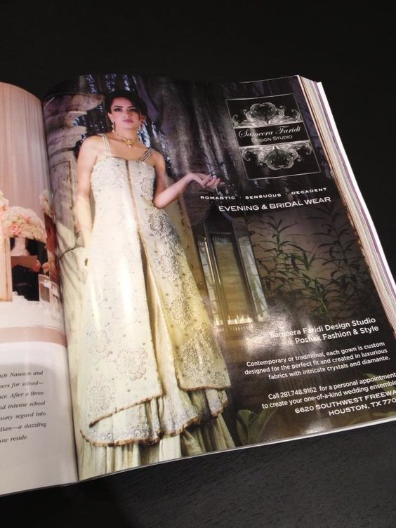 Our first ad in Weddings in Houston Magazine !