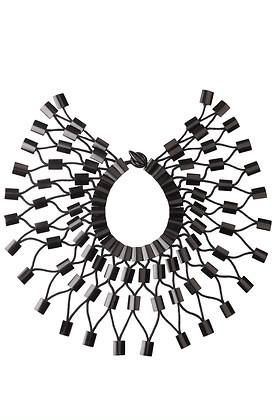Spice up your wardrobe with this gorgeous new buffalo horn necklace by Josie Natori. http://bit.ly/1RRuNMm