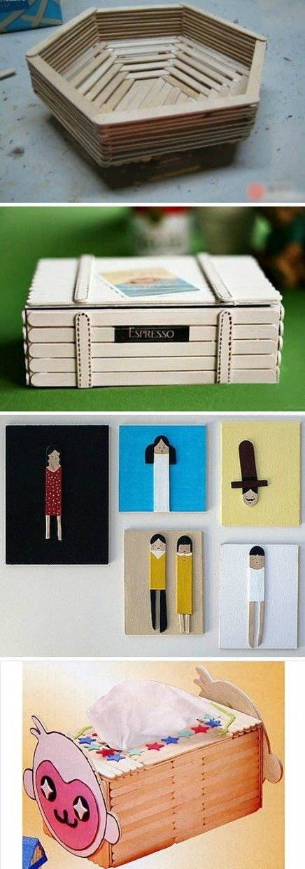 Creative popsicles and sticks on pinterest for Popsicle stick creations ideas