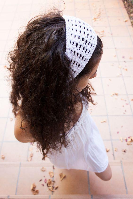 Vídeo tutorial: Cómo hacer una diadema para el pelo o vincha de ganchillo | how to crochet a headband