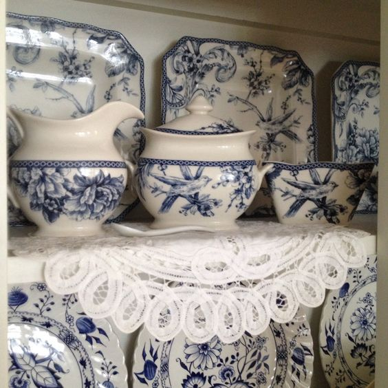 My lovely blue bird dishes