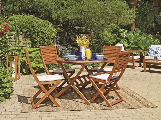 Gardens decks and garden furniture on pinterest for Kingsbury garden designs