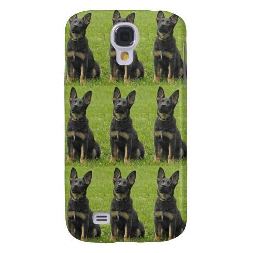 Black & Tan GSD Pup Galaxy S4 Covers