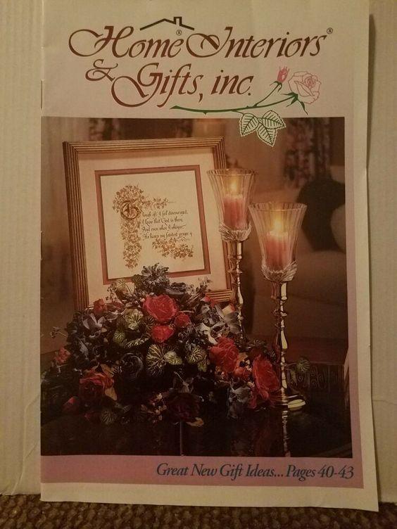 1993 Home Interiors And Gifts Homco Brochure Sales Catalog 1993 No