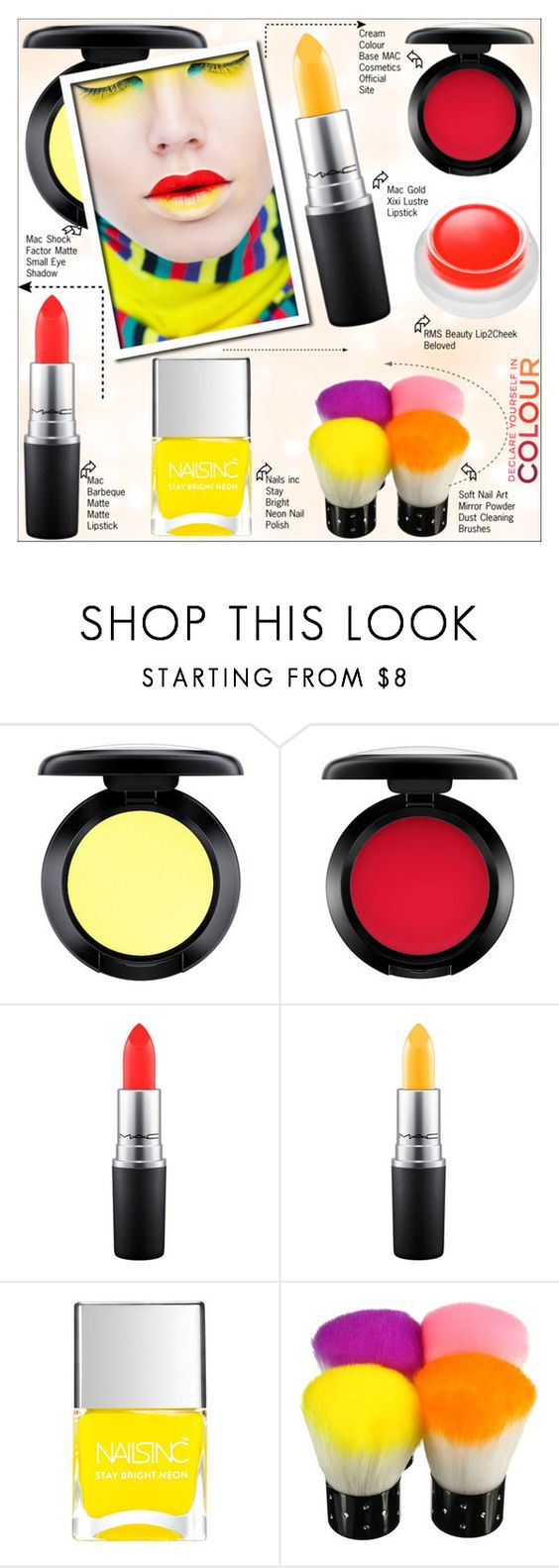"""Colour 2016"" by selangel ❤ liked on Polyvore featuring beauty, MAC Cosmetics, Chanel, Nails Inc. and rms beauty"