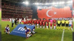 Türkiye Rusya ile yenişemedi: A Milli Futbol Takımı FIFA 2018 Dünya Kupası grup eleme maçında karşılaşacağı Hırvatistan maçı öncesi Rusya ile hazırlık maçında karşı karşıya geldi. Mücadele 0-0 eşitlikle sona erdi. - A Milli Futbol Takımı FIFA 2018 Dünya Kupası grup eleme maçında karşılaşacağı Hırvatistan maçı öncesi Rusya ile hazırlık maçında karşı karşıya geldi. Mücadele 0-0 eşitlikle sona erdi. TÜRKİYE RUSYA MAÇINDA YAŞANANLAR: İLK YARI 6. dakikada Zhirkovun sol ...