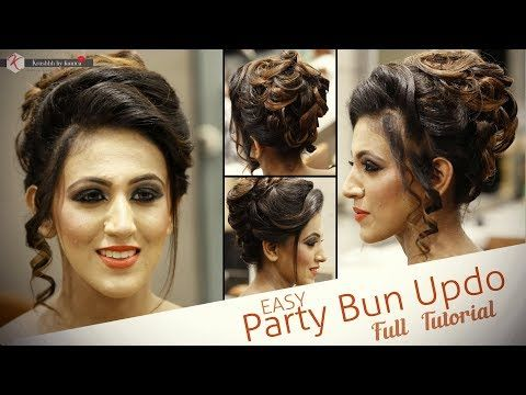 Easy Party Hairstyle Tutorial Step By Step Bridal Hair Tutorial Video Krushhh By Konica Youtube Easy Party Hairstyles Hair Tutorial Easy Hairstyles