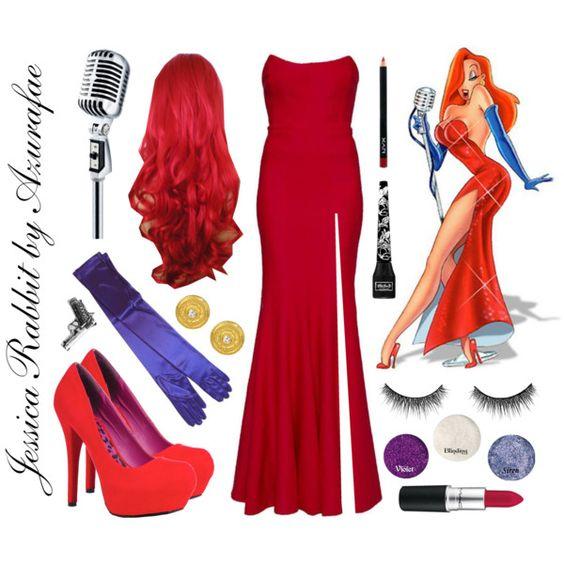 Jessica Rabbits Costume .. Rachel Gilbert gowns, Dollhouse pumps and Club Manhattan rings