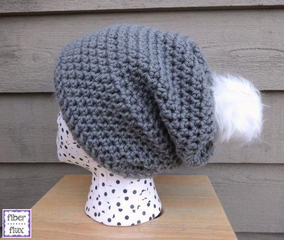 crochet slouch hat free pattern | Crochet | Pinterest | Patrones de ...