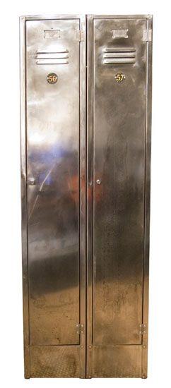 shiny industrial lockers