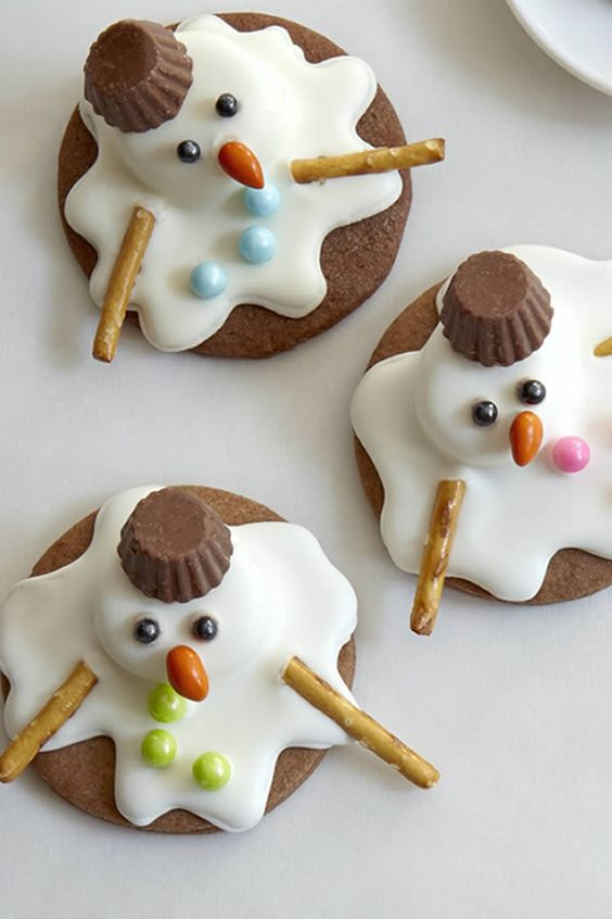 Melted Snowman Cookies |
