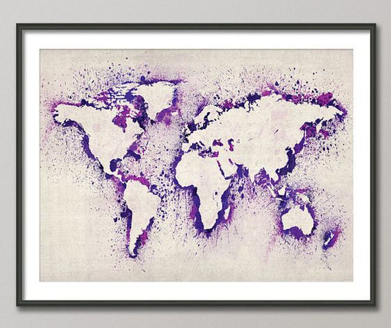 Map of the world map abstract painting art print 492 pinterest map of the world map abstract painting on etsy gumiabroncs Images