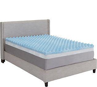 Comforpedic By Beautyrest 3 Mem Foam Reversible Tw Topper Qvc