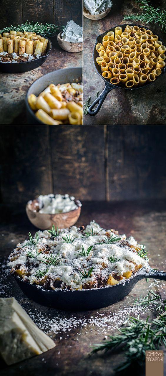 Lamb and Mushroom Pasta Verticale (aka Honeycomb Pasta)