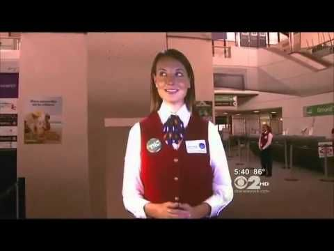 Marie is an avatar. She provides information about La Guardia Airport to travelers. Officials say she is meant to help workers, not replace them.