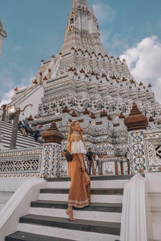 [Chia sẻ] Du lịch Wat Arun hay còn gọi là chùa Bình Minh, Bangkok, Thái Lan