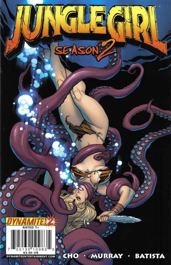 Jungle Girl Season 2 #2 (2008).  Cover art:  Frank Cho.  The Best UNDERWATER Comic Book Covers -  A collection of some of the top underwater comic book covers ever created.