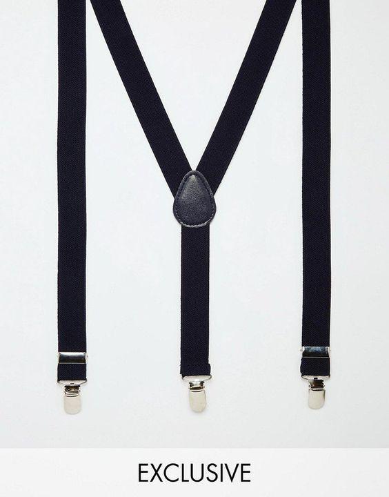 Pin for Later: 50 schöne (& teils auch ganz praktische) Geschenkideen zum Vatertag  Reclaimed Vintage Hosenträger (22 €)
