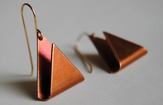 Geometric Vintage Triangle Earrings