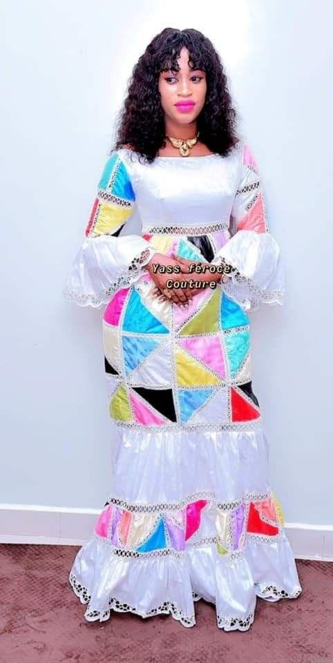 Robe Blanc Avec Melange Latest African Fashion Dresses African Dress African Fashion Dresses
