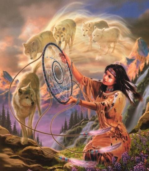 native_woman_w__spirit_wolves.jpg (479×550):