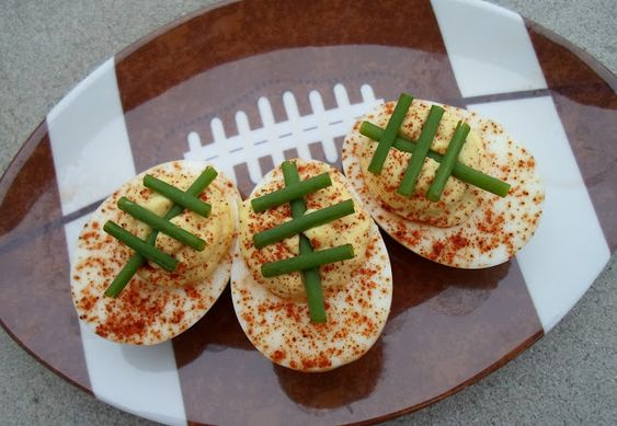 Football Deviled Eggs: Happier Than a Pig in Mud
