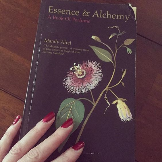 """REGRAM @papillon_artisan_perfumes """"One of the most frequent questions that I am often asked is 'how did you start making perfume?' It was this beautiful book, Essence and Alchemy by Mandy Aftel that fired my passion and interest in the subject. This book was my perfume bible and I still refer to it now. Naturals are possibly the hardest materials to manipulate within a formula and this book is a wonderful resource in helping to understand these often complicated materials."""" -- Truly honored!"""