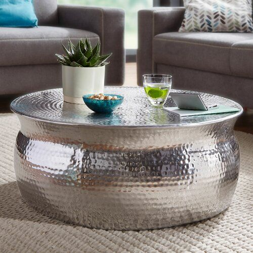 World Menagerie Dash Coffee Table Silver Coffee Table Copper