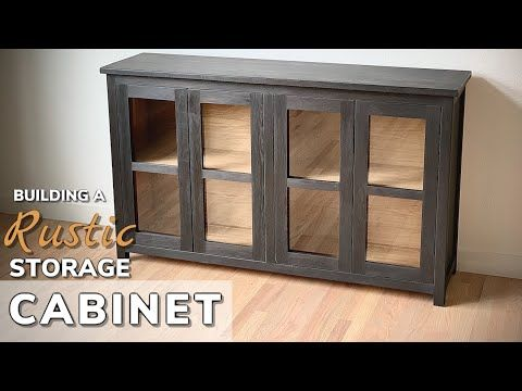 Easy Diy Storage Cabinet Build How To Build A Wood Storage Cabinet Youtube In 2020 Wood Storage Cabinets Diy Storage Cabinets Diy Storage
