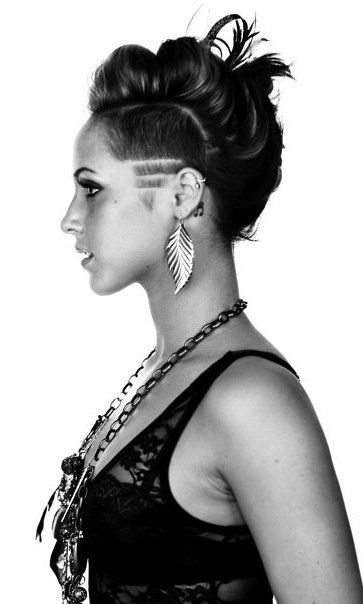Liking the undercut pattern more than the faux hawk. :)