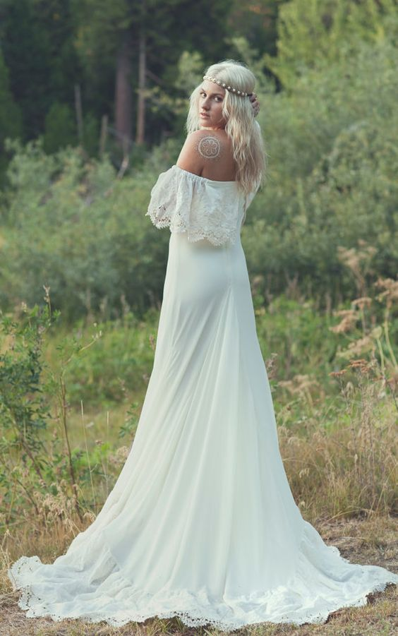 Bohemian wedding dresses 1970s hippie and bohemian for Hippie dresses for weddings