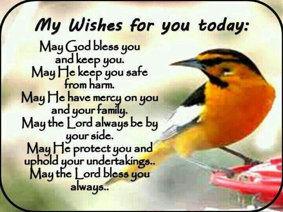 May God Bless You And Keep You...