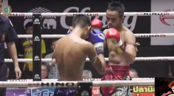 Muay Thai – Lumpini Stadium Bangkok My wife's young cousin (red shorts) on the Thailand telly today (03/09/2016), fighting at Lumpini Stadium – every young Muay Thai/kickboxer's dream. Wee man wiz robbed – he's a regular at Lumpini though, undefeated till today and he's only sixteen. Crackin' fight, heats up from the 3rd round on – wee man was the winner, deffo!  http://thai-nomad.com