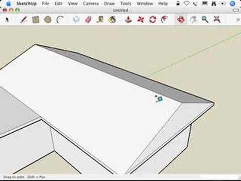 Sketchup Making Hip Roofs Hip Roof Roof Coating Roofing Felt