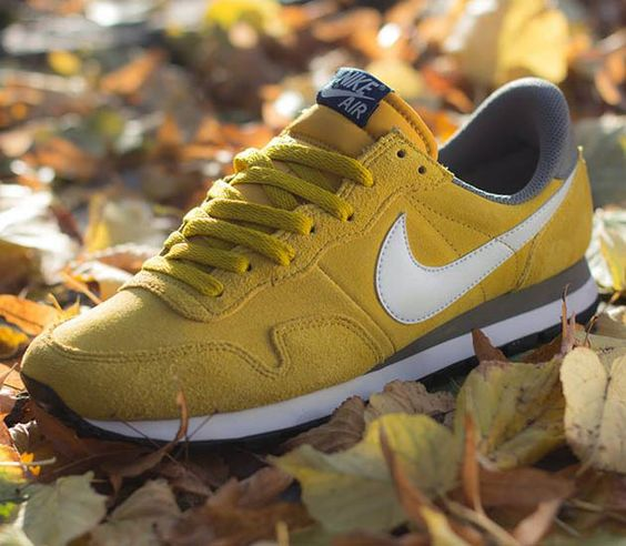 Nike Air Pegasus 83-Dark Citron-Light Base Grey