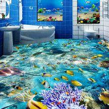 Online Shop Hochwertige 3d Boden Tapete Teich Karpfen Toiletten Bad Schlafzimmer Pvc Boden Aufkleber Maler Papel Pintado 3d Suelos Decoracion De Unas