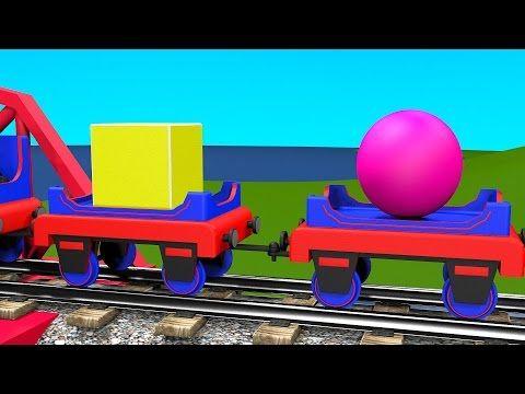 Le train tchou tchou et les solides g om triques dessins anim s pour les enfants en fran ais - Tchou tchou le train ...
