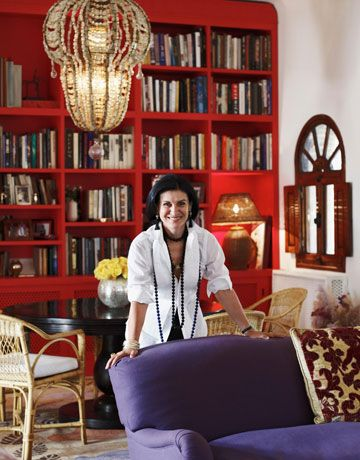 Paloma Picasso: A Fashionable Life!   // Look at those wonderful red shelves... aaah!