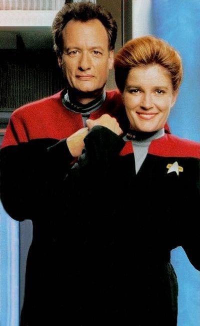 Q and Captain Janeway