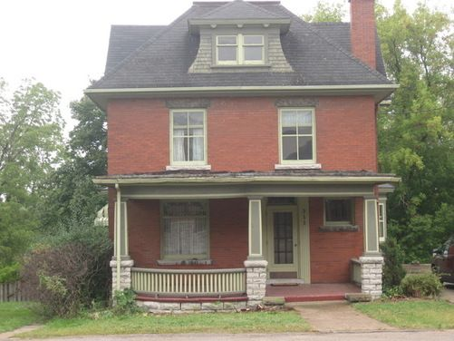 Century old red brick house needs new paint for the wood for Williamsburg exterior paint colors