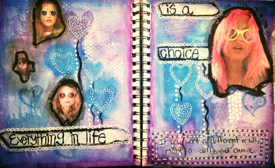 Everything in life is a choice - art journal page