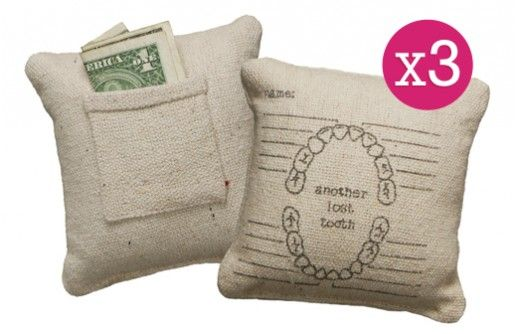 Tooth Fairy Pillows with Chart - Decor Steals~Enjoy Today's Steal from DECOR STEALS