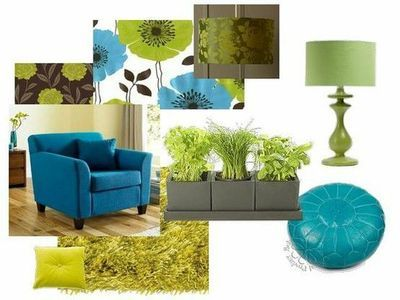 Green Living Rooms Teal And Limes On Pinterest