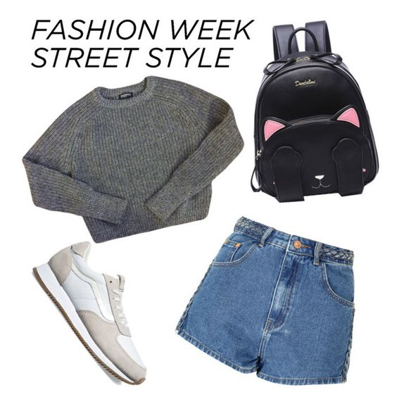 """""""Untitled #53"""" by axivq on Polyvore featuring Glamorous, American Apparel and Vans"""