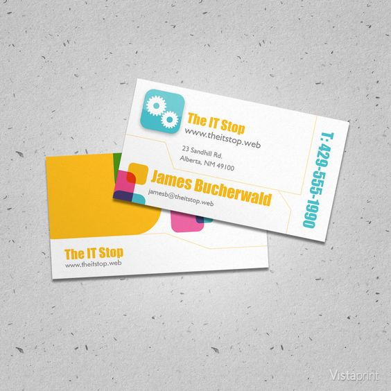 Custom Social Application Developer Business Cards