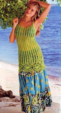 Inspirações de Croche com Any Lucy: Túnica ou Saída de Praia