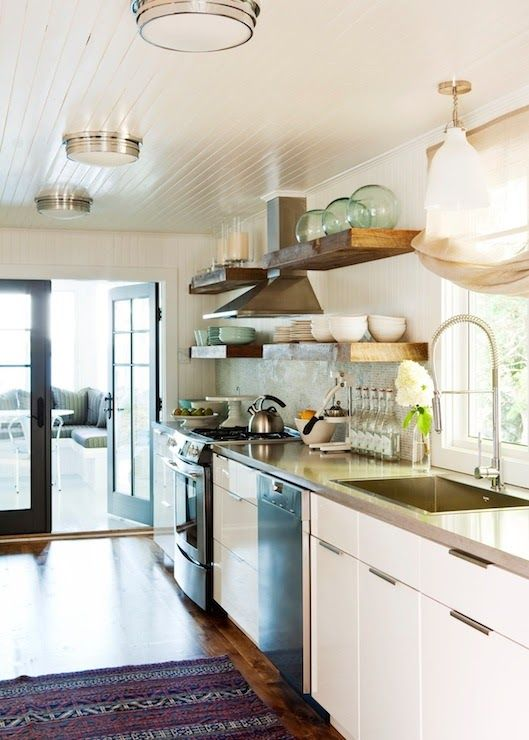 Pinterest the world s catalog of ideas for Galley kitchen lighting ideas