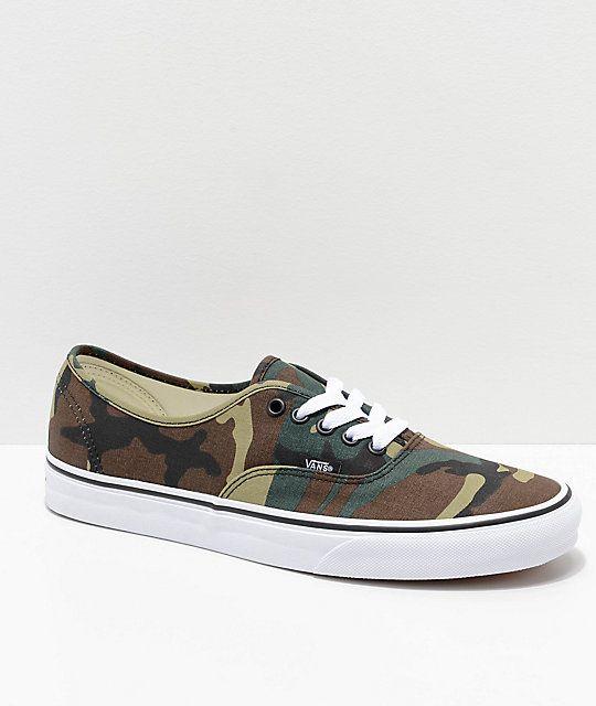 Vans shoes women, Woodland camo, Skate