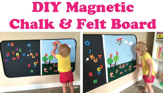 Everyday Confetti: DIY Magnetic Chalk & Felt Board